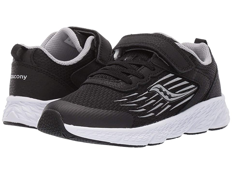 Saucony Kids Wind A/C (Little Kid/Big Kid) (Black) Boys Shoes