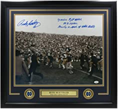 Rudy Ruettiger Signed Framed 16x20 Notre Dame Photo 5ft Nothing Multi Insc. JSA