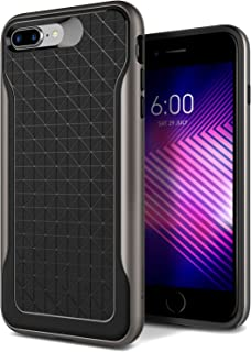 Caseology Apex for Apple iPhone 8 Plus Case (2017) / for iPhone 7 Plus Case (2016) - Black/Warm Gray