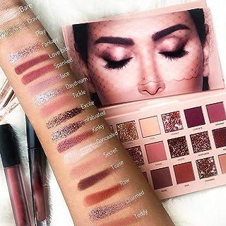 INS Same Style 18 Colors Eye Shadow Makeup Pearl Metallic Eyeshadow Palette Makeup cosmetic (Multicolor