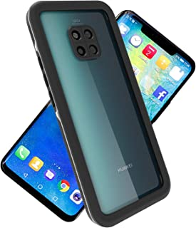 ASAKUKI Shockproof Case For HUAWEI MATE 20 PRO, Full Body Drop Waterproof Protection Clear Case with Screen Protector for Outdoor Activity, Swimming