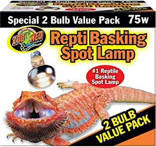 DBDPet Repti Basking Spot Bulb [Value 2 Pack 75 WATT] - Includes Attached 5 Point Pro-Tip Guide