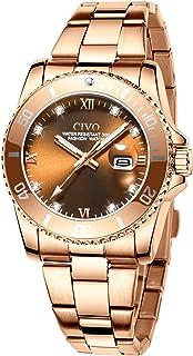CIVO Reloj Mujer Acero Inoxidable Relojes Impermeables Mujer Diseñador Analógico Cuarzo Cielo Estrellado Relojes para Muje...