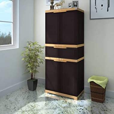 Nilkamal Freedom FMDR1C Storage Plastic Cabinet with 1 Drawer Brown
