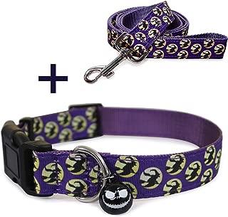 RYPET Halloween Dog Collar and Leash Set - Halloween Dog Leash and Collar with Cute Bell for Dog's