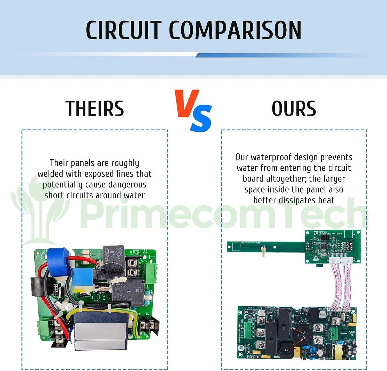 10Amp - 16Amp - 20Amp - 24Amp - 32Amp 30Ft Cable EVSE Plug-in Hybrid Charger Amperage Adjustable EV PRIMECOM.TECH Level 2 Electric Vehicle 30 FT, 10-30P