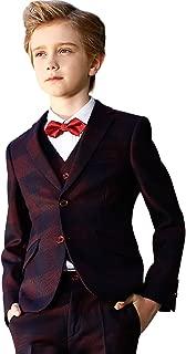 Boys Suits Children's Slim Fit Classic Plaid Suits Set