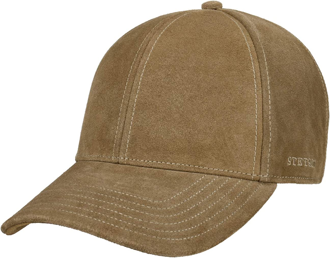 Stetson Men's Calf Leather Baseball Cap Brown