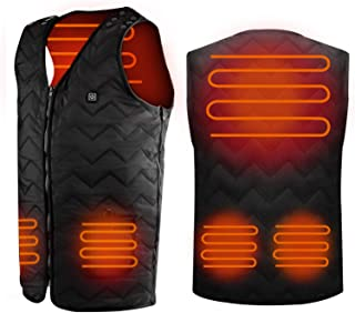 Heated Vest with Battery Pack, Recharge Size Adjustable...
