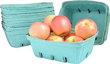 Green Molded Pulp Fiber Berry / Produce 1.5 Quart Basket (Set of 12)