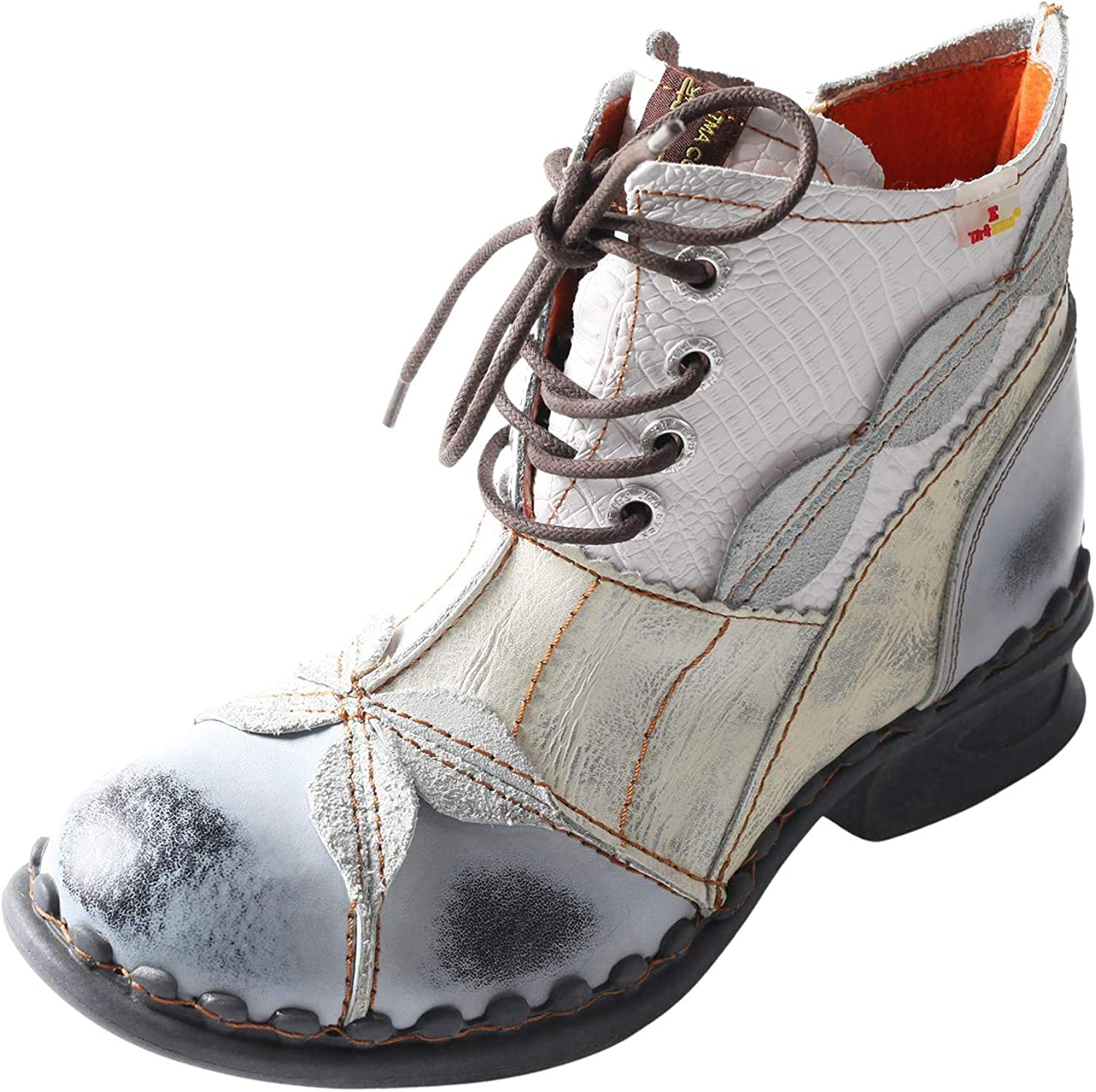 TMA EYES Brand Washed Leather Award Oxford Women's Boots Mother Shoes Cheap mail order shopping