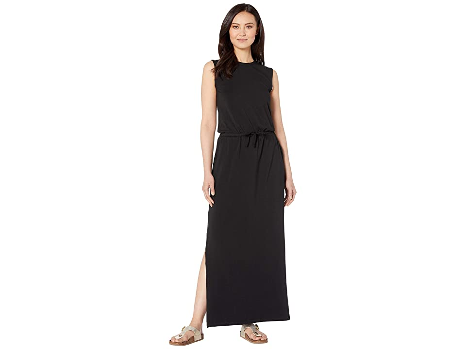 PACT Sleeveless Drawstring Dress (Black) Women