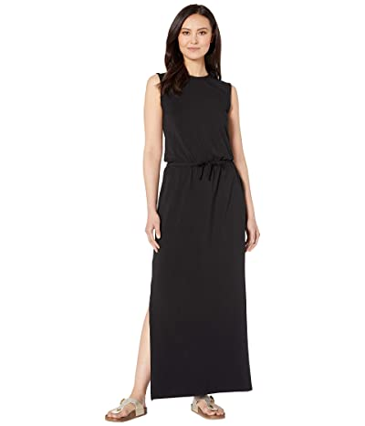 PACT Sleeveless Drawstring Dress (Black) Women