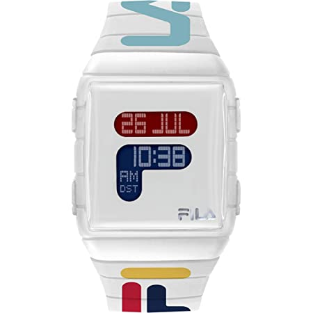 FILA Digital Watch Men - Digital Watches for Men - Digital Watches for Women - Silicone Bracelet Watch - Fila Watches for Men - Digital Bracelet Watch - Silicone Watch - White Fila Watch