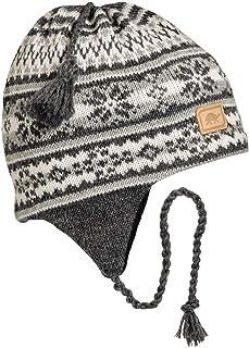 Turtle Fur 100% Wool Knit Classic Ski Earflap Hat Lined w/Fleece