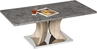 Mango Steam Hanford Coffee Table - Faux Cement Laminate Top and Stainless Steel Base