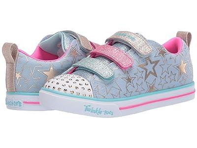 SKECHERS KIDS Twinkle Toes Sparkle Lite Stars The Limit 314036L (Little Kid/Big Kid) (Light Blue/Multi) Girl