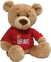 GUND Be Brave Red T-Shirt Teddy Bear Stuffed Animal Plush, Tan, 12.5