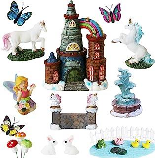 BangBangDa Unicorn Figurines Fairy Garden Accessories - Miniature Unicorn Gift Set Outdoor Garden Decoration - Fairy Figur...
