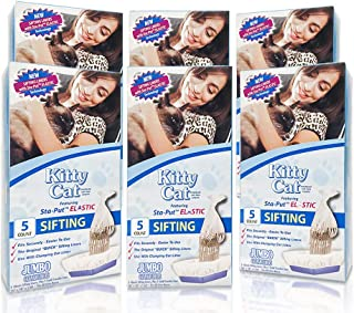 Alfapet Kitty Cat Pan Disposable, Elastic Sifting Liners- 5-Pack + 1 Solid Transfer Liner -for Large, X-Large, Giant, Extra-Giant Size Litter Boxes- with Easy Fit Sta-Put Technology - Pack of 6