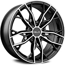 HELO HE907 Gloss Black Machined Wheel Chromium (hexavalent compounds) (17 x 7. inches /5 x 72 mm, 38 mm Offset)