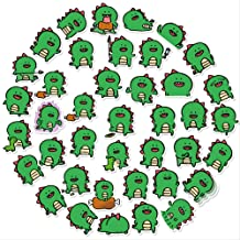 Nobranded 40Pcs Cartoon Little Dragon Man Account Sticker Cute Dinosaur Expression Sticker Water Cup Notebook Teléfono Móvil Impermeable Etiqueta Pequeña