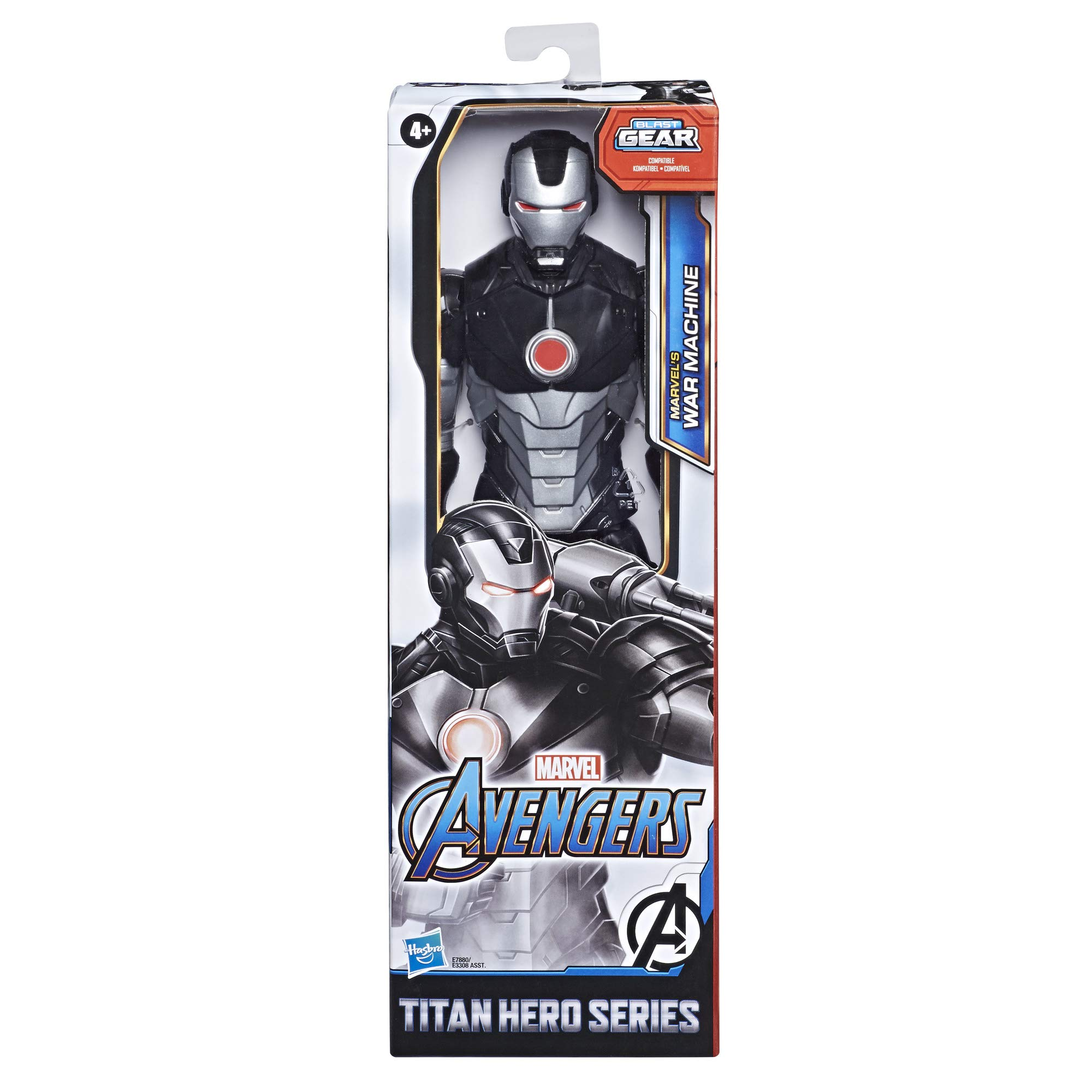 Avengers Marvel Titan Hero Series Blast Gear Marvel's War Machine Action Figure, 12-Inch Toy, Inspired by The Marvel Universe, for Kids Ages 4 and Up