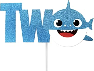 OMG Party Factory - Baby Cute Shark Cake Topper 2nd Birthday