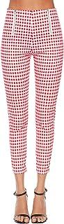 Vepodrau Le Donne 1940 Vintage Zip Alta Vita Quadretti Checker Slim Pantaloni