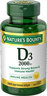 Natures Bounty Vitamin D3 2000 IU
