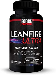 LeanFire Ultra Thermogenic Fat Burner, Energy Booster, and Appetite Suppressant Supplement with Green Tea Extract, L-Carni...