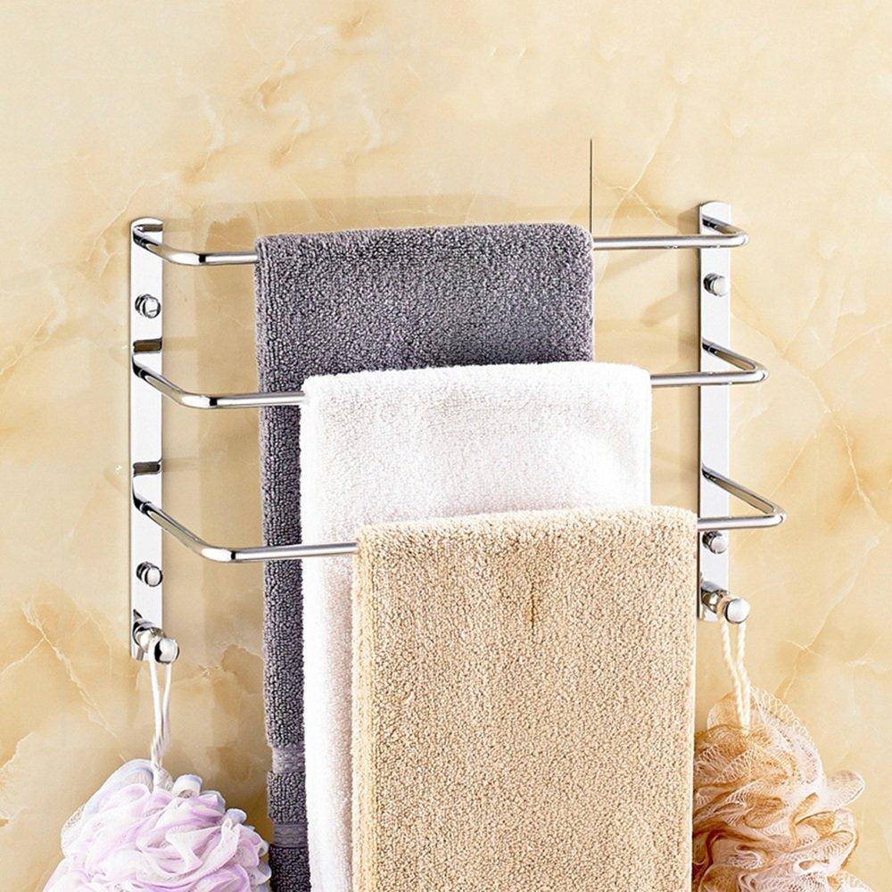 Xiaolin- Todos Cobre sólido de Toallas al Estilo de Escalera Tercera Marcha de Toallas de Oro de Estilo Europeo del Estante Toalla Tres -Bastidores de baño (Color : A): Amazon.es: Hogar