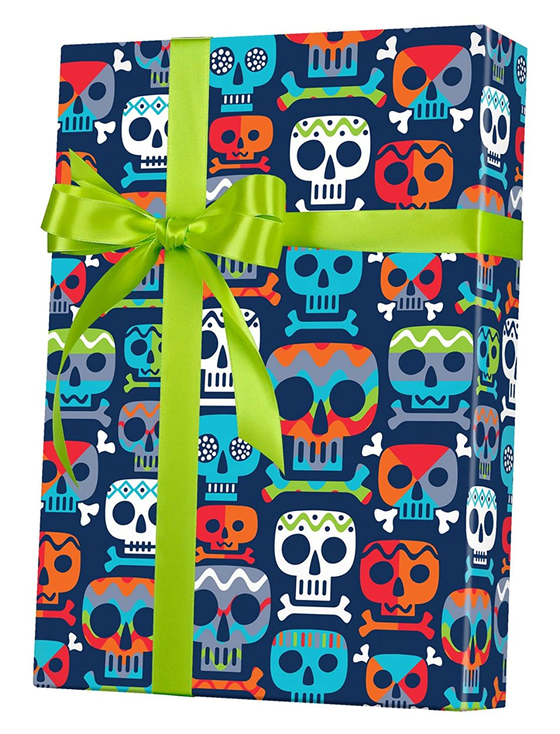 Skull Totem Reversible Rolled Gift Wrapping Paper - 24