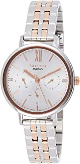 Casio Womens Quartz Watch, Analog Display and Stainless Steel Strap SHE-3064SPG-7AUDF