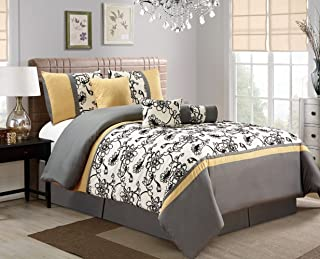 Best yellow black and grey comforter sets Reviews