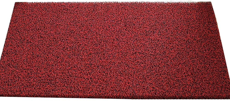 JIAJUAN Doormat Non-Slip Wear Resistant Entrance Floor Mat Effective Scraping Dirt Door Mat Indoor Outdoor, 14mm, 4 colors, 12 Sizes (color   B, Size   60X120cm)