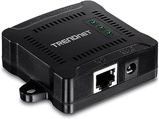 TRENDnet TPE-104GS Gigabit PoE-splitter, wandmontage, instelbaar uitgangsvermogen, PoE aangedreven