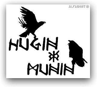 Aufkleber/Sticker Hugin und Munin nordische Mythologie Raben Odins 8x7cm A3107