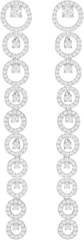 Swarovski Creativity Pierced Earrings, White, Rhodium Plating