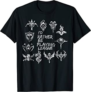 I'd Rather Be Playing League T-Shirt Legends MOBA Tee