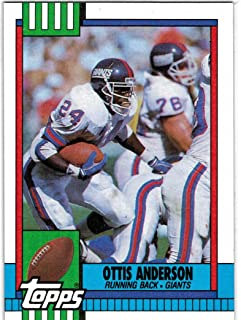 1990 Topps with Traded Super Bowl Champion New York Giants Team Set with OJ Anderson - Phil Simms & LT - 26 NFL Cards