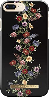iDeal Of Sweden Fashion Case for Apple iPhone 6S Plus / 7 Plus / 8 Plus (Microfiber Lining, Qi Wireless Charging Compatible) (Dark Floral)