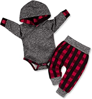 Baby Boy Clothes Stripe Letter Print Hoodies+Long...