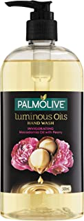 Palmolive Luminous Oils Liquid Hand Wash Soap Invigorating Macadamia Oil with Peony Pump Recyclable, 500mL