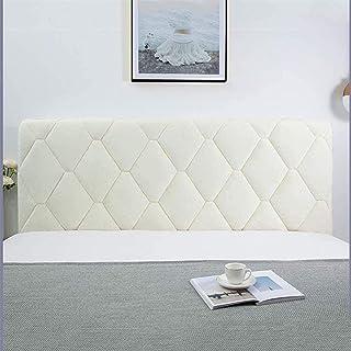 YYSDH Funda para cabecero de cama, con lado elástico y bolsillo de algodón a prueba de polvo, cubierta para cabecero de cama para dormitorio (color: beige, tamaño: 170 x 73 cm)