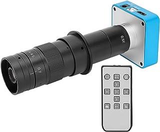 34MP HDMI USB業界デジタルCマウント顕微鏡カメラ、2K @ 30FPSビデオ34MP写真フルHDTV +電子DIYPCB修理用180倍ズームレンズ(US Plug)