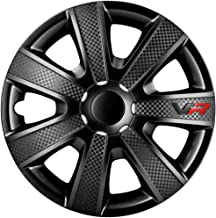 AUTOSTYLE VR Negro Set VR Negro/Carbon Look/Logo - Tapacubos (4 Unidades)