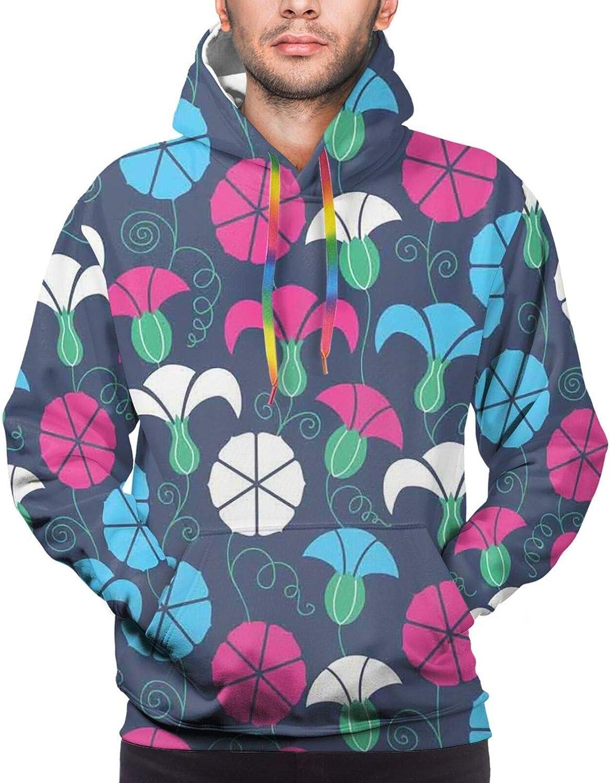 Men's Hoodies Sweatshirts,Colorful Silhouette of B with Do Re Mi Symbols Art School Alphabet Design Words
