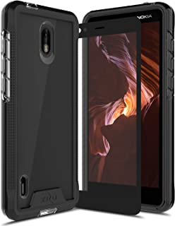 Zizo Ion Series Compatible with Nokia 3.1 C Case Military Grade Drop Tested with Tempered Glass Screen Protector Black Smoke