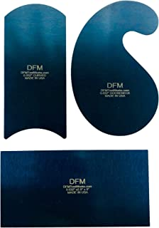 DFM Blue Curved Cabinet Scraper Card Set
